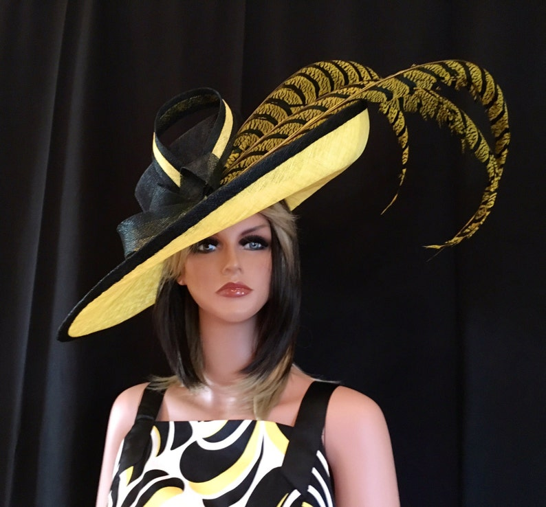 2017 collection.Yellow kentucky derby hat. Derby Hat  ce97fb463a0