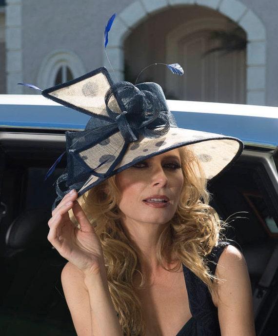 0afc7d4dbc9 2018 collection. Kentucky derby Hat. Navy hat. Derby hat.