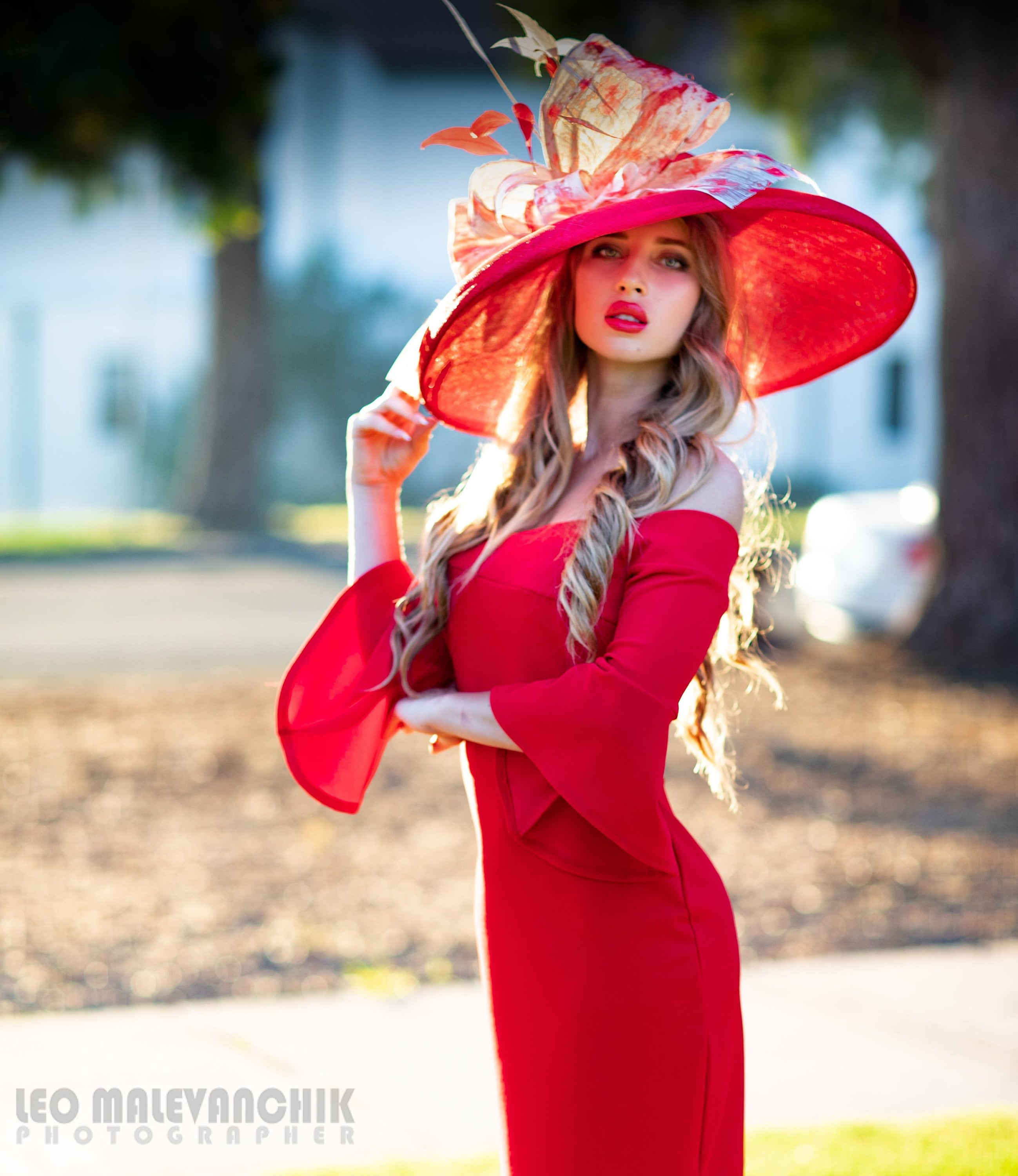 faee2d12851 2019 spring collection. Kentucky Derby hat. Red hat. Large