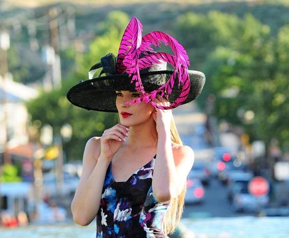 Kentucky Derby Hat. Formal hat. Del Mar Black hat  d6a1d58e243