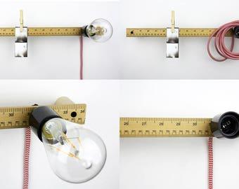 Ruler Light | Wooden Wall Light | Upcycled Light | Bakelite Lamp |