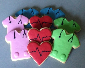 Nurse/Medical Sugar Cookies