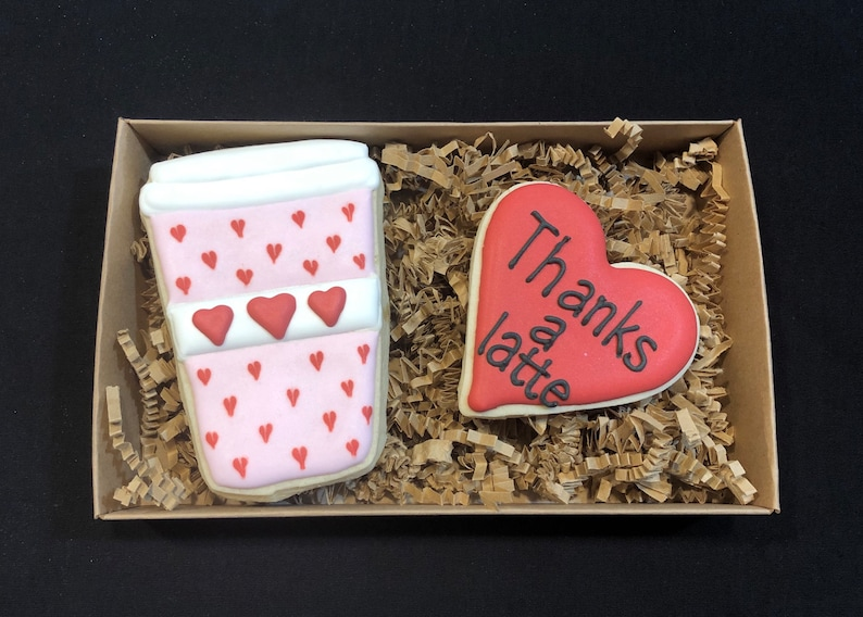 Coffee Lovers Thank you Cookie Gift Set  2 cookies image 0