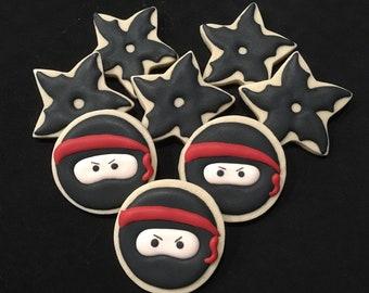 Ninja Themed Sugar Cookies