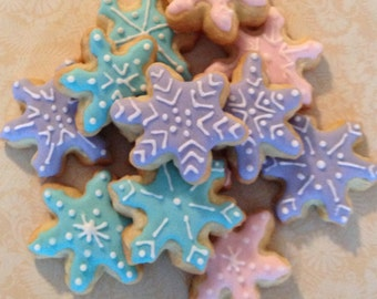 2 dozen Mini Snowflake Sugar Cookies