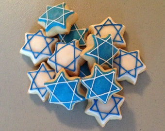 2 dozen Mini Star of David Sugar Cookies