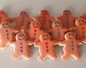 2 dozen Mini Gingerbread Men Sugar Cookies