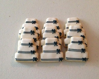 2 dozen Mini Wedding Cake Sugar Cookies