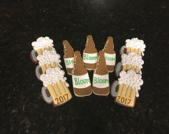 Beer Mug/Bottle Sugar Cookies