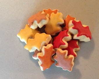 2 dozen Mini Fall Oak Leaf Sugar Cookies