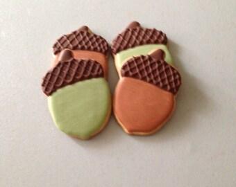 Fall Acorn Sugar Cookies