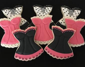 Bachelorette/Corset Sugar Cookies