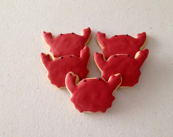 2 dozen Mini Crab Sugar Cookies