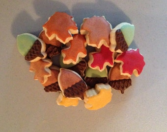 2 dozen Mini Fall Themed  Sugar Cookies
