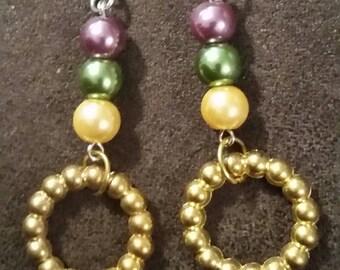 Mardi gras glass pearls