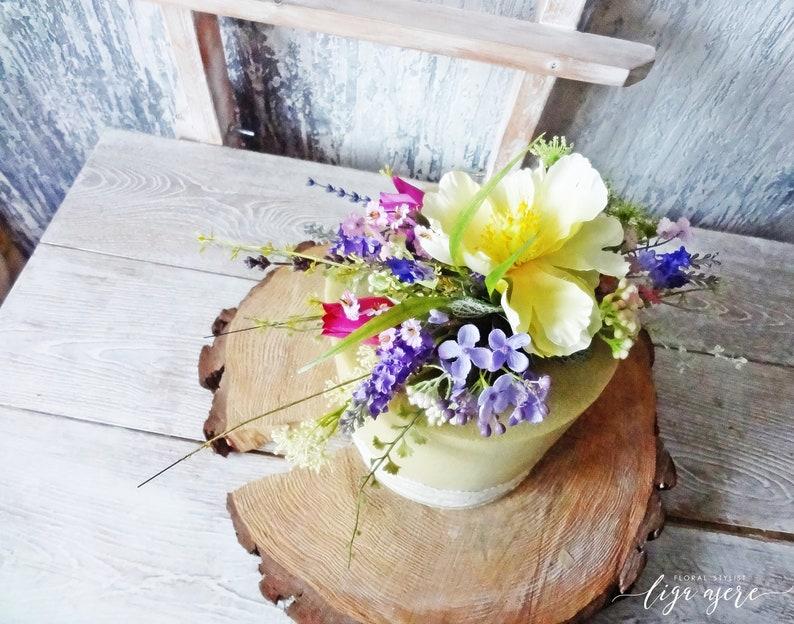 Wildflower Cake Topper Spring Summer Vintage Wedding Pastel