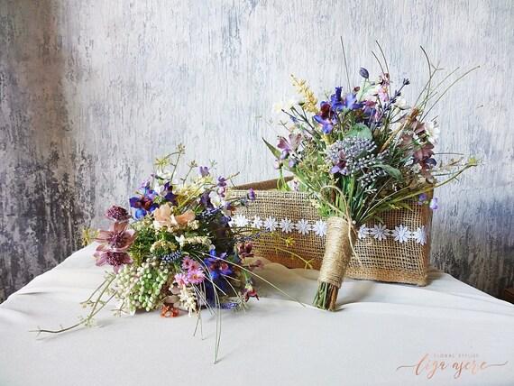Wildblumen Mini Brautstrauss Brautjungfern Wiese Blume Etsy