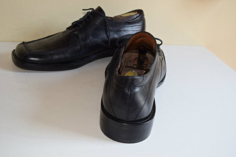 22df754143ac5 Men's 12 M Italian Calfskin Shoes Men's Black Leather Shoes Italian Oxfords  Size 12 M Shoes Refurbished Dress Shoes NEW Leather Soles Heels