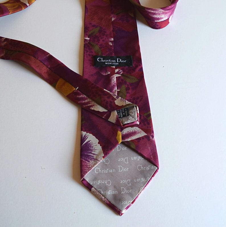 aa3005411526 Vintage DIOR Tie Italian Tie All Silk Tie Christian Dior | Etsy
