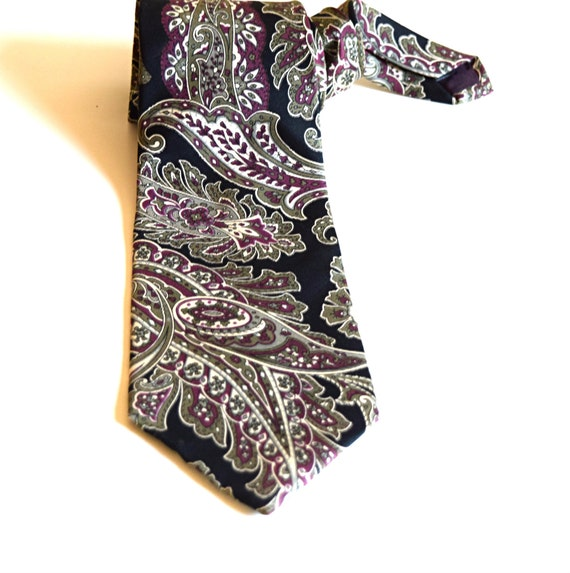 Valentino cravate en soie italienne des hommes noir cravate   Etsy 07cb738603a