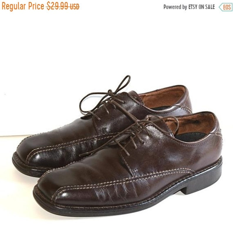 8555aeab ON SALE Comfortable 9 M Men's Ecco Shoes, Size Eu 42 Brown Lace Up Oxfords  Full Grain Leather Refurbished Shoes Made in Portugal High Qualit