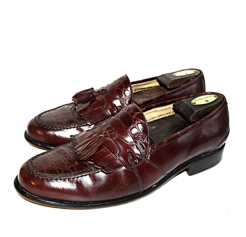 1efa4a6d94e Men s 11 Stacey Adams Croc Loafers Made In Brazil Shoes