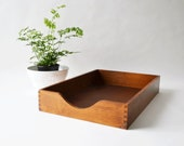 Wood Desk Tray with Dovetail Corners