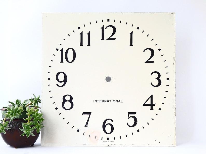 Vintage Clock Face Clock Wall Decor Modern Farmhouse Etsy