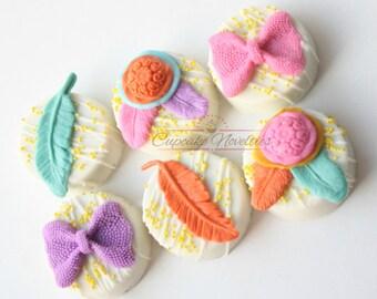 Boho Cookies Boho Baby Shower Bohemian Baby Boho Birthday Boho Chic Baby Shower Dream Catcher Cookies Feather Cookies Native American Indian