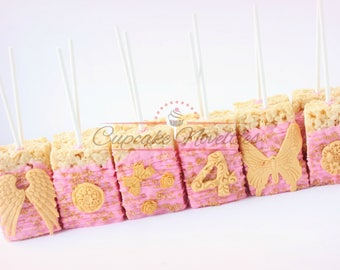 Fairy Tea Party Fairy Birthday Party Fairy Cookies Angel Cookies Fairy Garden Pink Gold Birthday Pink Gold Baby Shower First Communion Favor