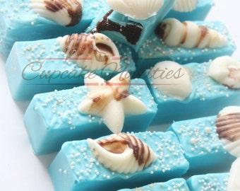 Under the Sea Birthday Under the Sea Cake Pops Seashell Cake Pops Seashell Cookies Under the Sea Baby Shower Bride Gift Beach Wedding Favors