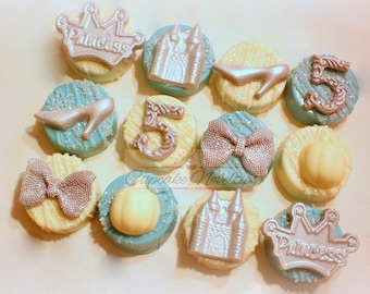 Princess Cookies Princess Birthday Cinderella Birthday Princess Baby Shower Cinderella Cookies Crown Tiara Cookies Princess Party Favor Idea
