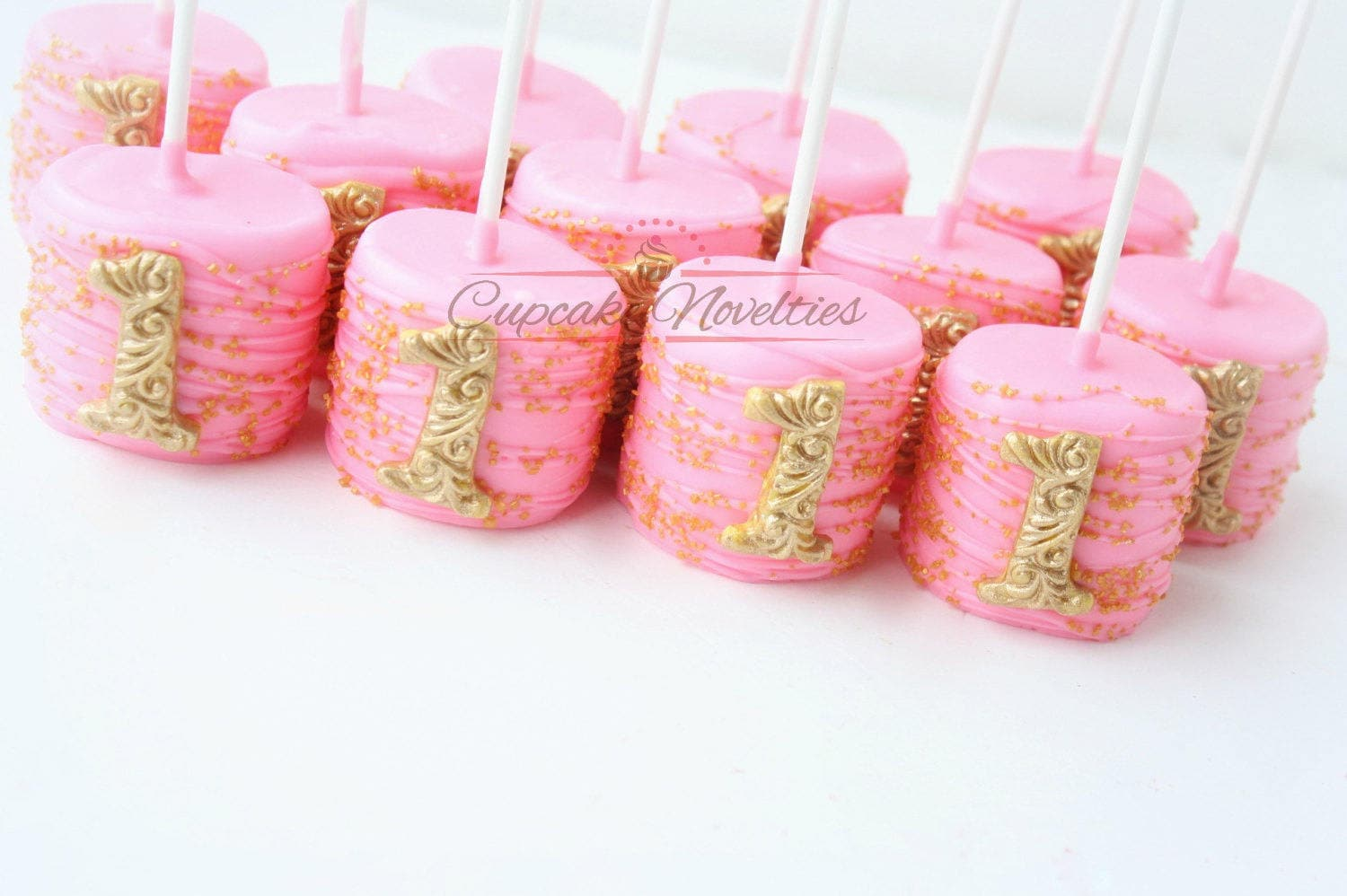 Pink And Gold First Birthday Favors