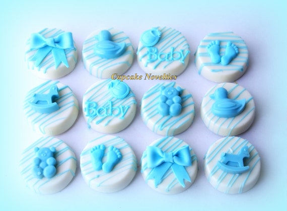 Baby Shower Cookies Boy Baby Girl Baby Things Chocolate Oreos Etsy