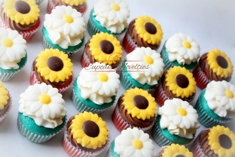 Cowgirl Birthday Party Spring Cupcakes Rustic Sunflower
