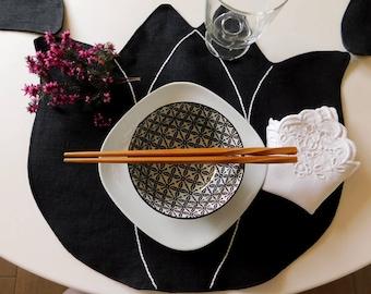 Linen placemats - handmade - tulip