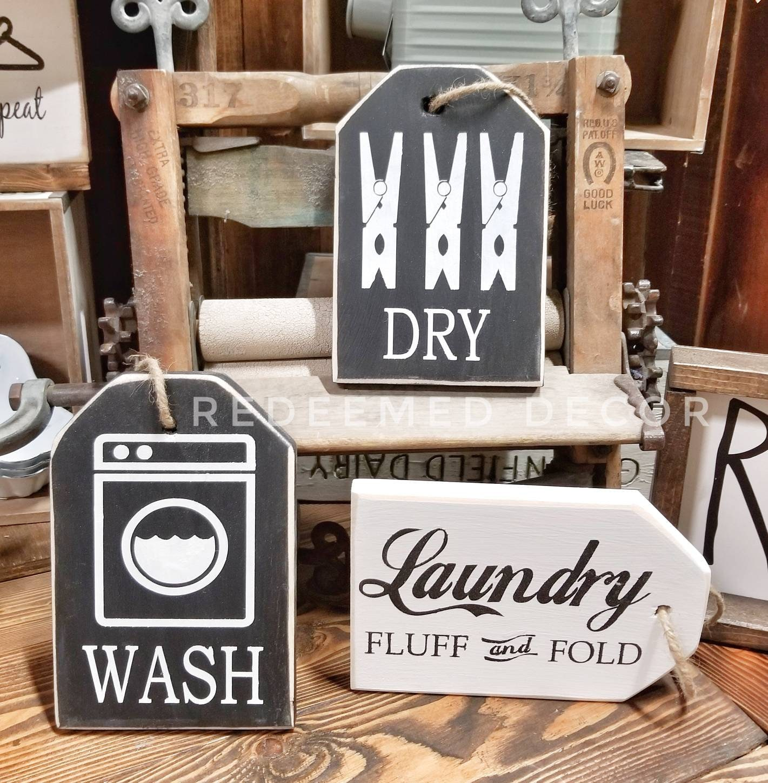 Diy Laundry Room Decor Tags Single Use Stencil