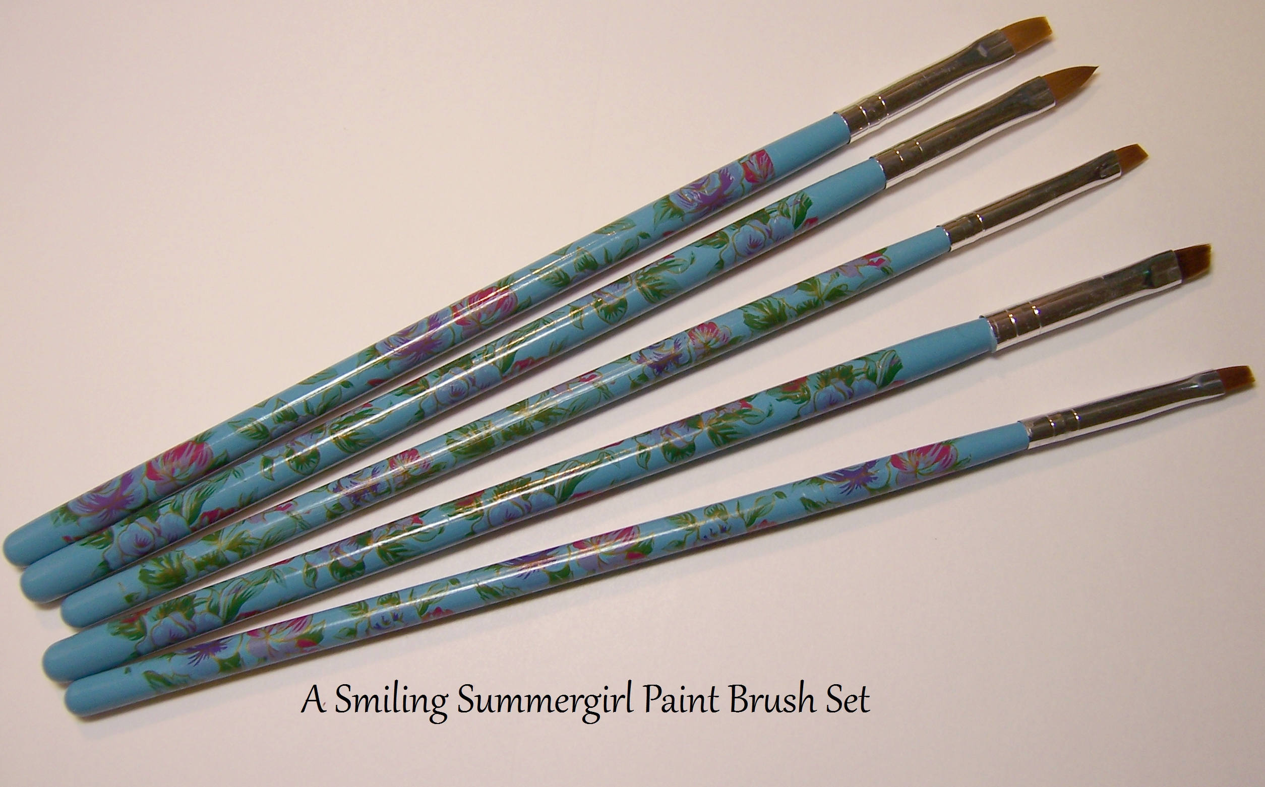 5 Small Detail Paint Brushes for Painting, Nail Art, Paper Crafts ...