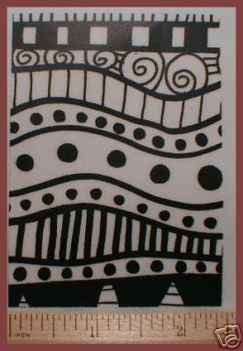 Fabric Unmounted Texture Rubber Stamp Create designs in Polymer and PMC Clays or onto Paper Art Journals Scrapbooks and ATC Trading Cards