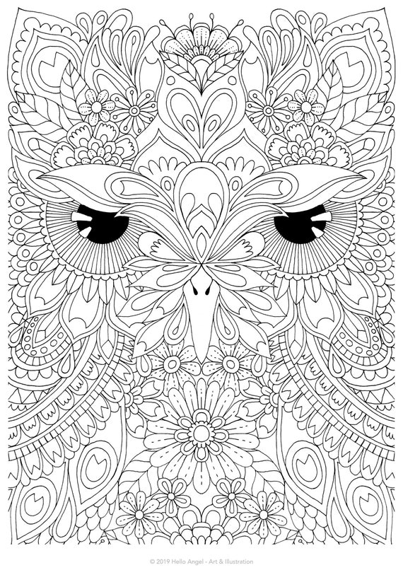 SARAH STUPAK » Archive Nightmare Coloring Pages For Adults - Sloth ... | 806x570