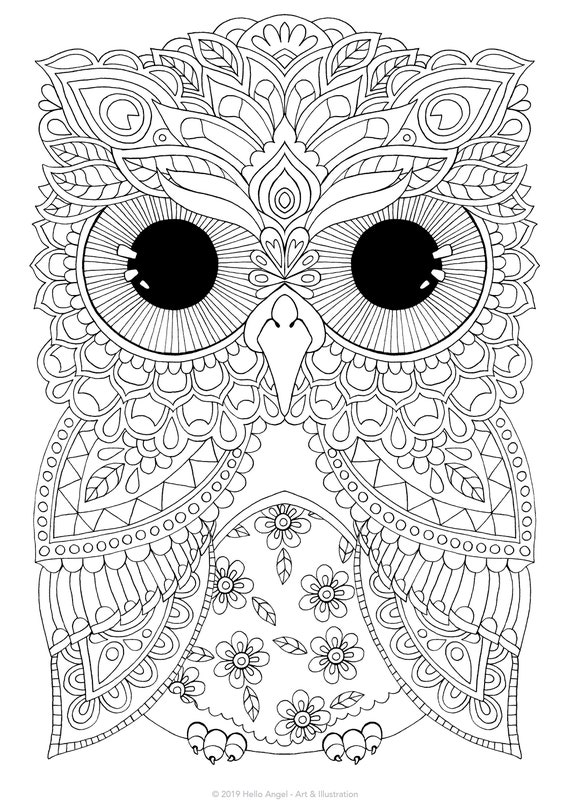Adult Coloring Pages Birds | Bird coloring pages, Elephant ... | 806x570