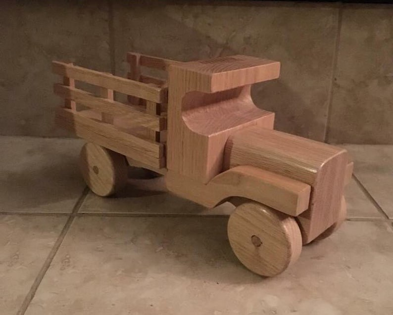 Wooden Stake Bed Truck Toy image 0
