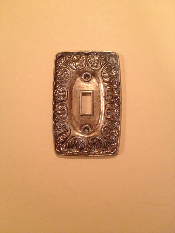 1 of 3 VINTAGE metal light switch  plate cover  decorative