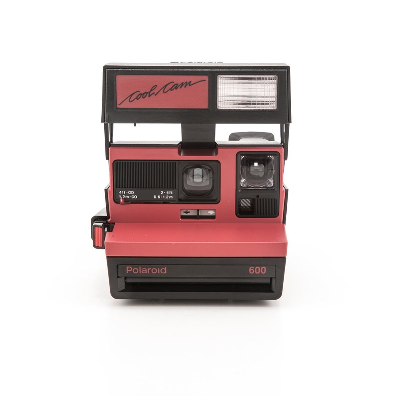 Polaroid 600 Cool Cam Black and Red Body Instant Camera  image 0