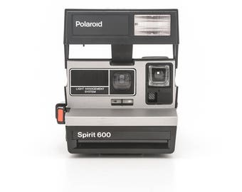 Polaroid Spirit 600 - Branded with Amtrak logo with original box and manual - film Tested - Working vintage 80s Polaroid 600 promo