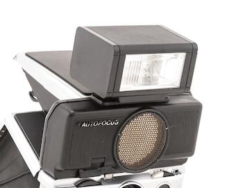 External Flash Unit for Folding Polaroid SX70 Sonar Cameras - Tested and Working - Polaroid Sonar Onestep