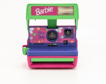 Polaroid Barbie Cam - Cleaned Tested and in Working Condition - Pink and Purple Polaroid 600 - Polaroid Originals Instant Camera