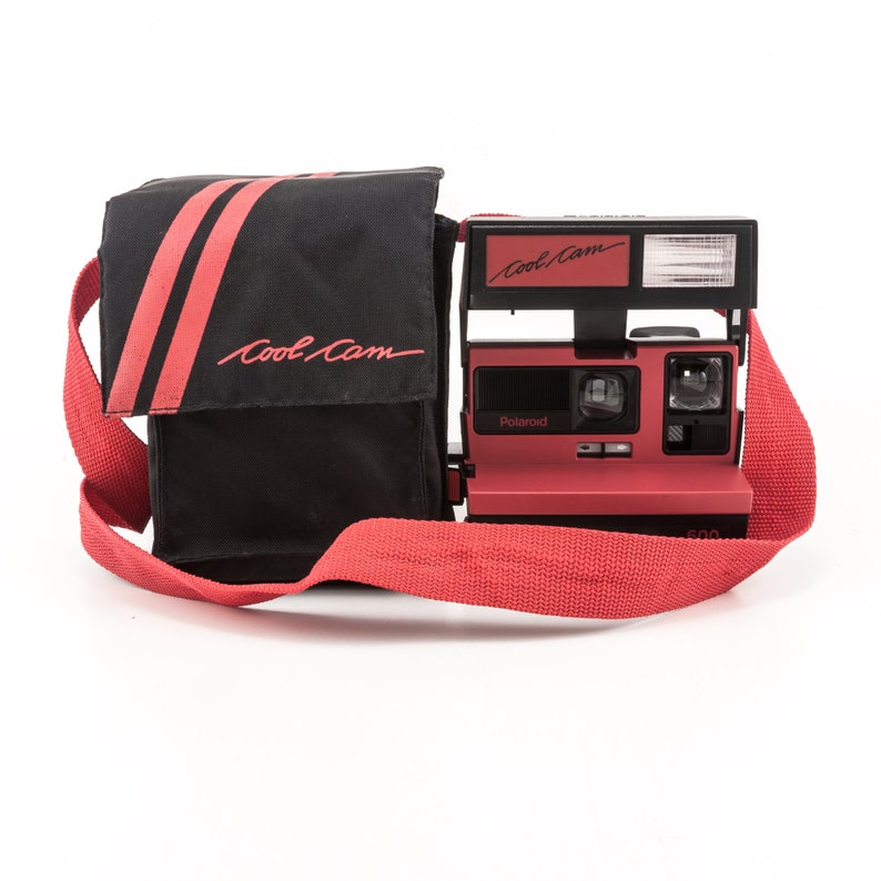 Polaroid 600 Cool Cam With Soft Case  Black and Red Body image 0