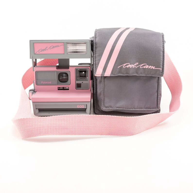 Polaroid 600 Cool Cam  Pink and Grey with Soft Camera Case  image 0