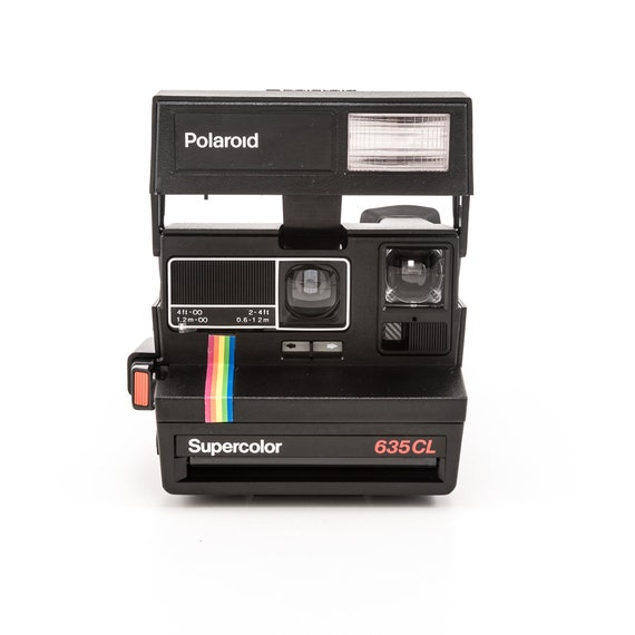 polaroid 600 supercolor 635cl instant camera black body etsy